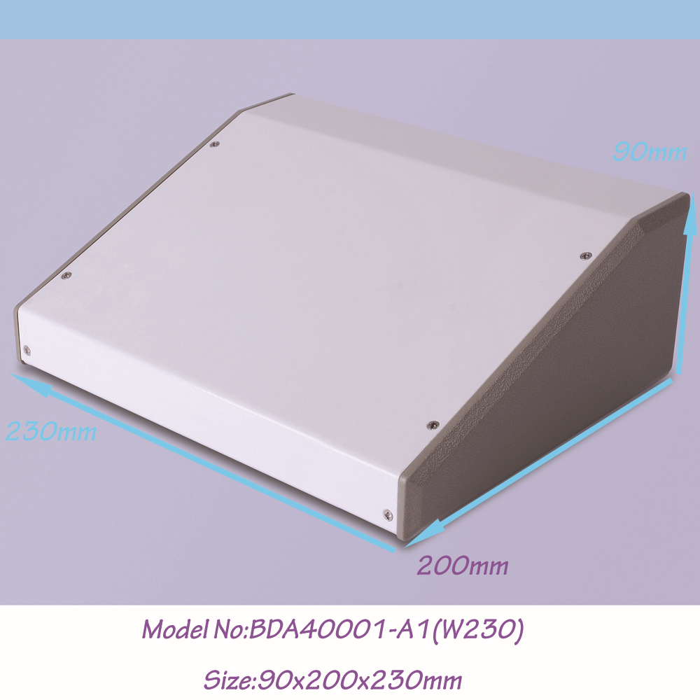 (1 )200x90x230 mm steel enclosure box electronic extruded metal project aluminum white - Eletronic Connector & Enclosure World store