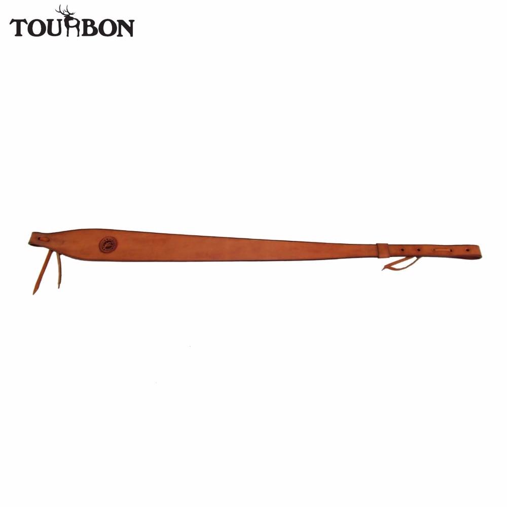 Tourbon Hunting Genuine Leather Gun Sling Dual Rifle Belt Shotgun Shooting Shoulder Strap Gun Accessories Adjusted