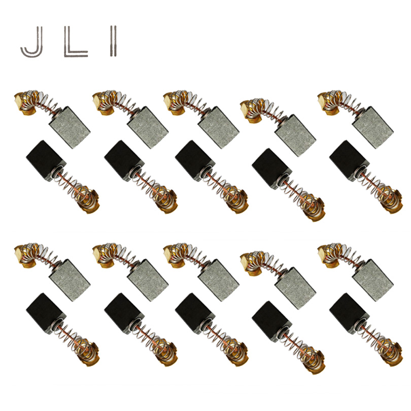 JLI 10 Pairs 7 13 18 5mm Carbon Brush For Bracelet Saw Cutting Machine Electric Motor Power Tools Accessories in Power Tool Accessories from Tools