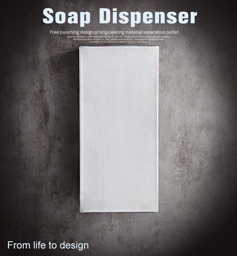 Distributeur de savon liquide 500 ml distributeur de savon à la mode bouteille de savon de douche à montage mural pour salle de bains salle de bains cuisine