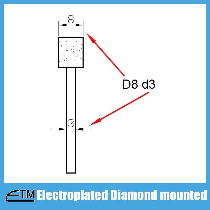 Mola a punta diamantata elettrolitica per intaglio e sbavatura di - Utensili abrasivi - Fotografia 6