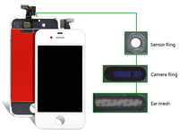 2pcs 100 Guarantee Black White LCD Display Digitizer Touch Screen Assembly Replacement For IPhone 4S Free