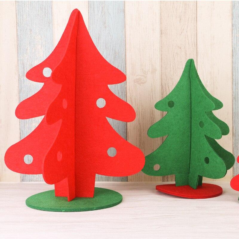 10PC Mini Creative DIY Manual Make Handmade Felt Christmas Toy Christmas Gifts  Kids Gifts