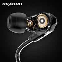 Dual Dynamic Driver Earphone Professional In Ear Earbuds Sport Detach MMCX Earphone With 4 Driver Inside