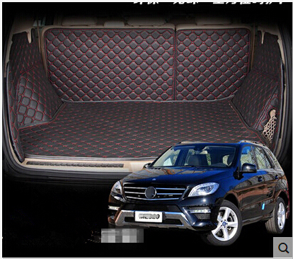 Good mats! Special trunk mats for Mercedes Benz ML350 2015-2012 waterproof durable boot carpets for MB ML 350 2014,Free shipping