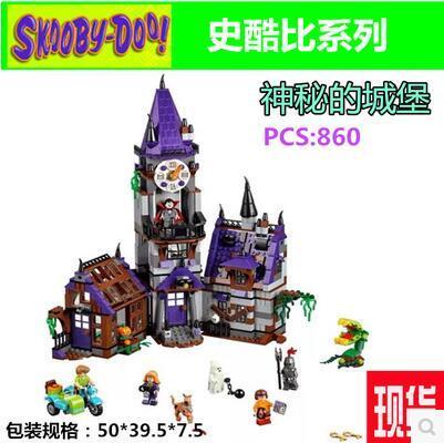 Новый Bela 10432 Scooby Doo Таинственный Призрак Дом 860 шт. Строительный Блок Игрушки Совместимые Любые Блоки подарок МАЛЬЧИК