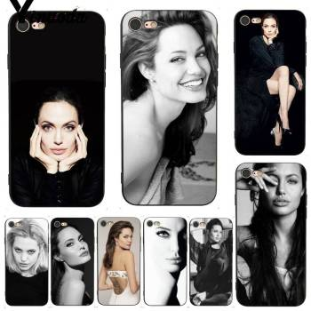 Yinuoda Angelina Jolie Exquisite Phone Accessories Case for iPhone X 8 7 6 6S Plus X 5 XS XR XSMAX 11 11pro 11promax image