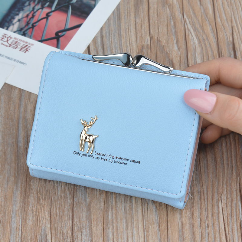 Luxury Brand Women Leather Wallet Small Short Cute Purses Female Pink Coin Wallet Clutch Bags Hasp Credit Card Slots Holder Lady in Coin Purses from Luggage Bags