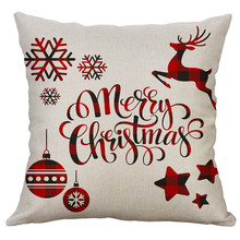 Счастливого Рождества Наволочка на подушку декоративный чехол на подушки для дивана сиденье квадратный Мягкая Подушка Чехол 40x40 см, домашний декор