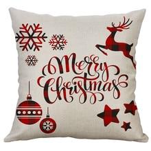 Frohe Weihnachten Kissen Abdeckung Dekorative Kissen Abdeckung Für Sofa Sitz Platz Weichen Wurf Kissen Fall 40x40cm Hause decor