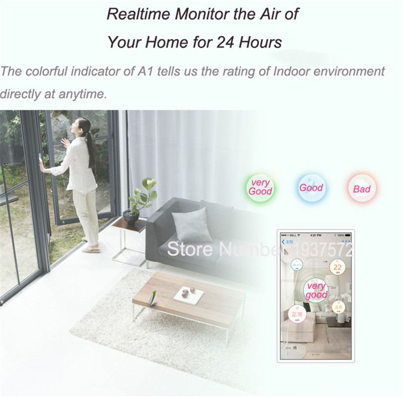 8-Broadlink A1 Air Detector E-air Quality IonizerTesting Air Humidity PM2.5 Remote Control by WIFI Infrared Home Automation System