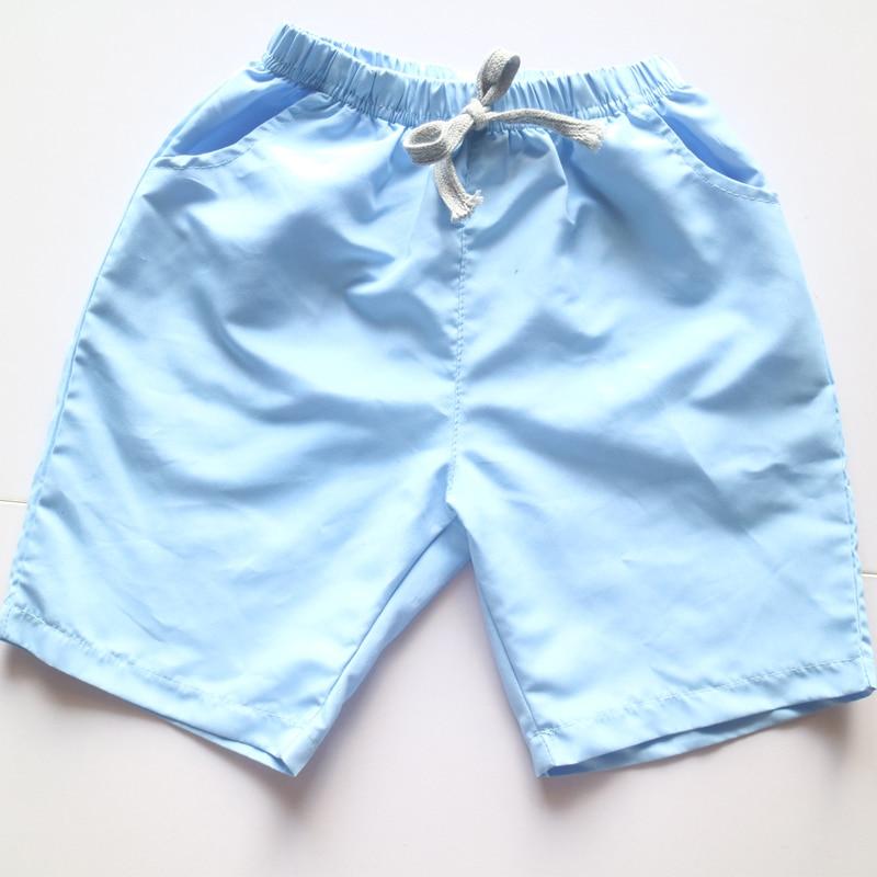 Polyester loose boys shorts,<font><b>aqua</b></font> blue drawstring boy kids <font><b>jeans</b></font>,summer casual loose solid short boys pants