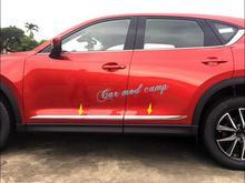 Для Mazda CX-5 CX5 2017 2018 ABS Chrome сторона автомобиля Для тела литья украшения крышка отделка 4 шт. автомобиля Интимные аксессуары для укладки!