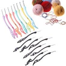 8 шт. классический набор крючков для вязания 2,5-6,0 мм цветная заколка с рисунком пластиковая ручка крючок для вязания спицы инструменты для шитья
