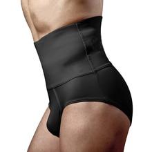 Mens Black Underwear Briefs Tummy Control Bottom High Waist Shapewear Shaping Panties Body Shaper for Men Modeling Strap Brief