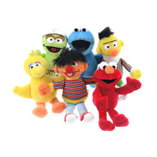 6pcs/set 15cm Sesame Street Elmo Cookie Monster Doll Puppet Plush Toy Christmas Gift, Party Supplies