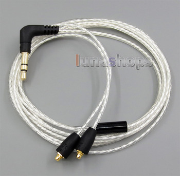 LN005057 Lightweight Pure Silver Plated  OCC Cable For Shure Se846 se535 se425 se315 se215 Earphone