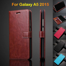 Mobile Phone Cover Wallet Case For Samsung A5 2015 A500 Card Holder Flip Cover For Samsung Galaxy A5 2015 A500F Leather Case