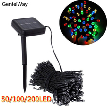 GentelWay Outdoor Solar Light String LED Bulbs Waterproof for lawn garden House Christmas Holiday Decor Lighting multi-color все цены