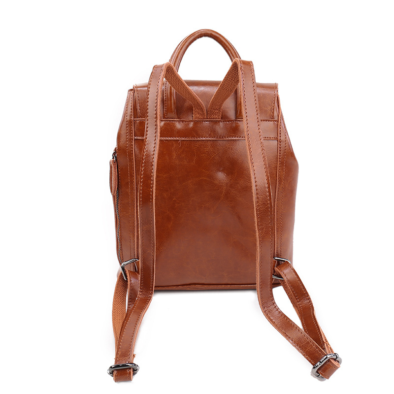 fabulous genuine oil wax leather men bags for fashion backpack shoulder vintage retro women bags baoin backpacks from luggage u bags on alibaba with bao - Baos Vintage