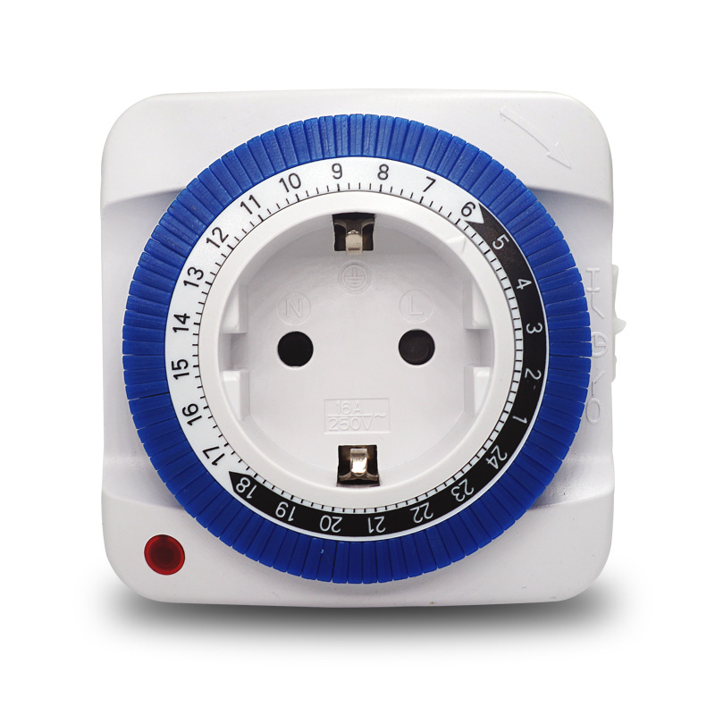 Image 3 - European German Standard Mechanical Intelligent Timer Socket 24 hour Switching Time Controller-in Electrical Sockets from Home Improvement