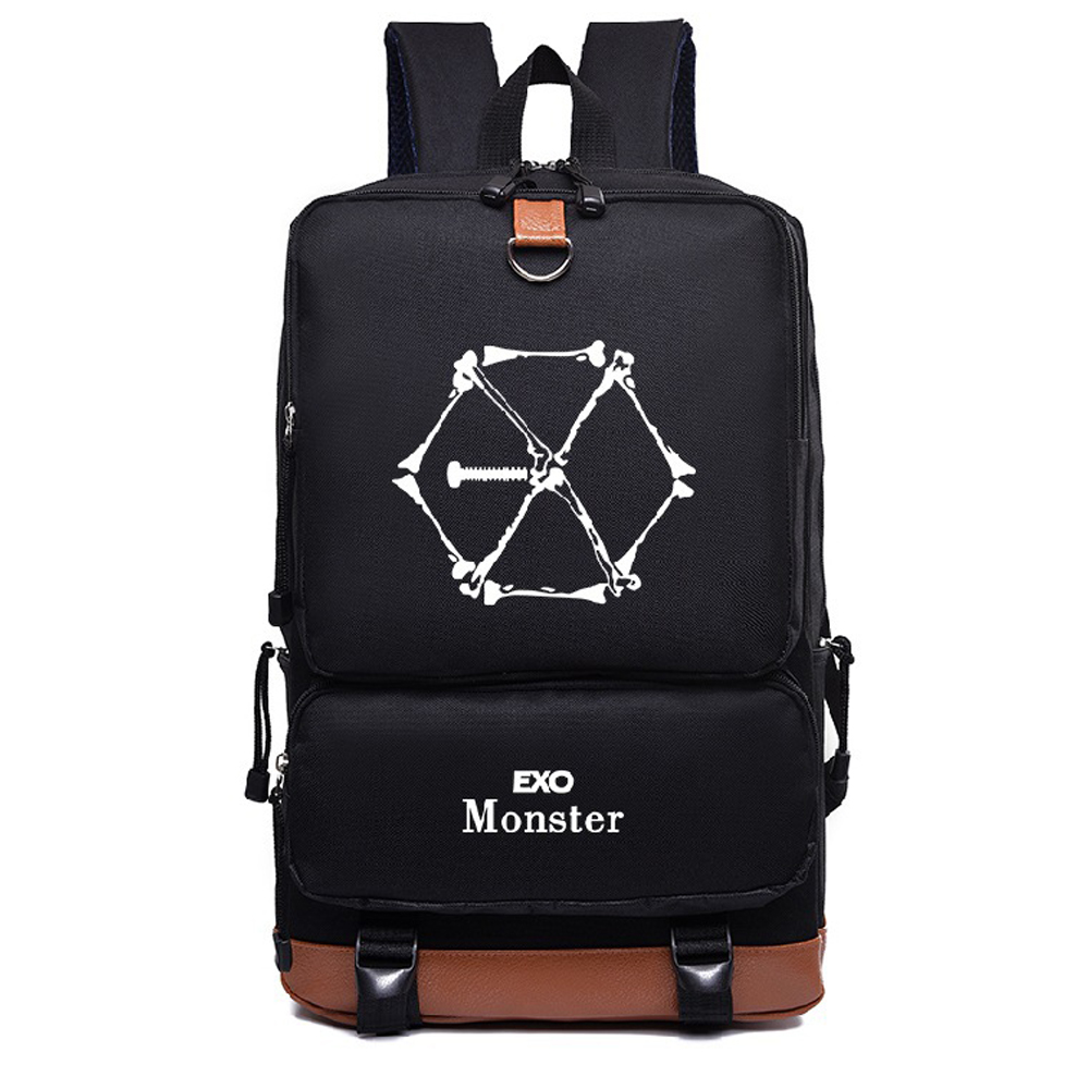 New Korean Nylon Kpop Group Exo Student Boys Girls Fashion Exo Backpack Bags Women Backpack Rucksacks Mochila Satchel Bag