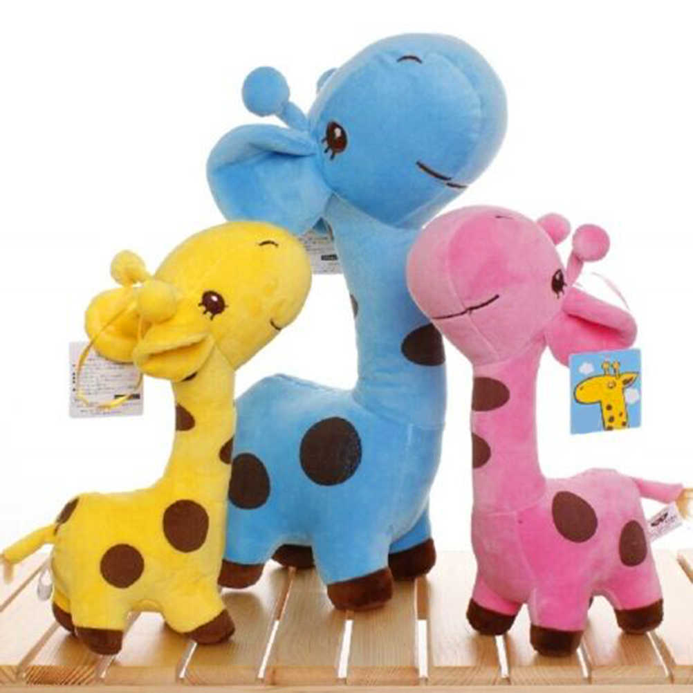 18cm Unisex Cute Plush Giraffe Soft Plush Toy Baby Children Stuffed Doll Toy Christmas Birthday Happy Colorful Gifts 5 Color #30