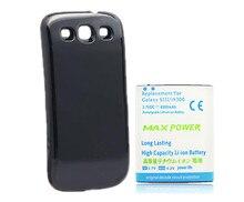 Расширенный Резервного Плотная 4500 мАч Аккумулятор Для Samsung Galaxy S3 i9300 батареи + Черный Задняя Крышка Для Samsung S3 Высокой Емкости горячая