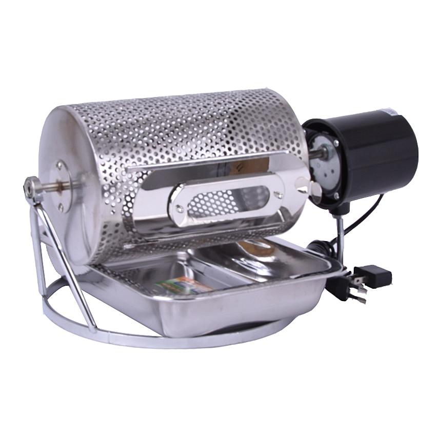 1 шт. Электрический из нержавеющей стали стекло окна кофе жаровня машина инструмент и барбекю для домашнего использования