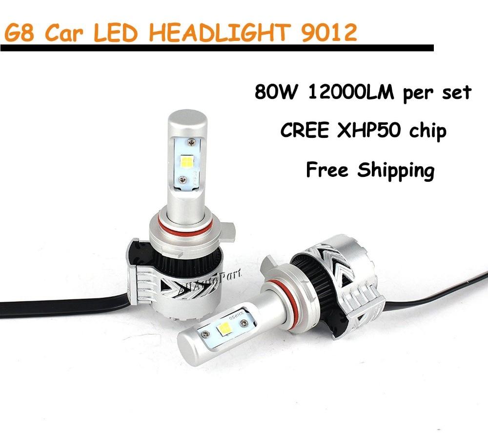 1 Set 80W 12000LM CR G8 LED Headlight 40W 6000LM H4 H7 H8 H9 H11 9005 9006 9012 9004 9007 H13 5202 6000K Car LED Headlight Bulb