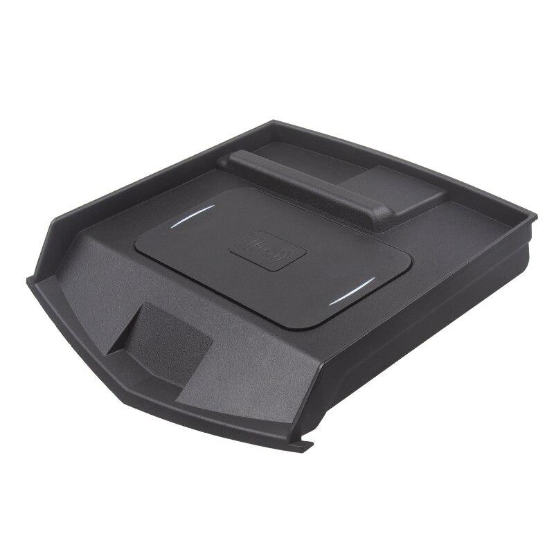 Module de protection de chargeur de voiture sans fil, boîte de rangement de Console centrale de charge rapide pour accessoires de voiture Cadillac Ats Xts Srx 2017-2019
