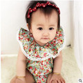 baby clothes floral printed christmas baby rompers lace cute newborn baby jumpsuit  summer style baby clothes