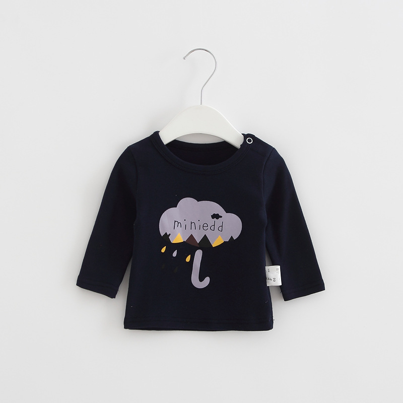 2017 Toddler Kids Baby Boys Girls Infant spring Autumn Long Sleeve cartoon Fox T-Shirt Tops Clothing Cotton cloud rain T-Shirts (11)