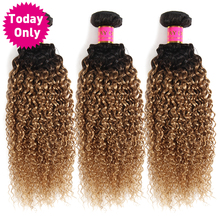 TODAY ONLY 1 3 4 Bundles Ombre Brazilian Hair Weave Bundles Kinky Curly Human Hair Bundles