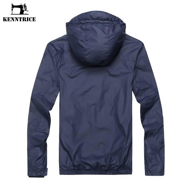 c40cd33fe KENNTRICE casaco masculino Blusão de Verão Proteção UV Pele Disjuntor  Brasão Do Vento Jaqueta Masculina jaqueta