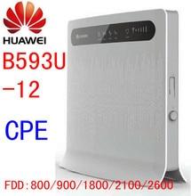 Unlocked Huawei B593 B593U-12 rj11 phone 4G LTE CPE FDD 100Mbps WIFI Wireless Router LAN , RJ45 Port pk e5776 b880 b890 e589