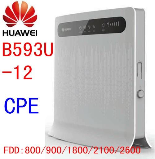 Unlocked Huawei B593 B593s-12 4G LTE CPE FDD 100Mbps WIFI Wireless Router LAN , RJ45 Port pk e5776 b880 b890 e589 huawei b593 b593s 22 4g lte fdd 100mbps unlocked mobile wireless wifi router a pair of b593 external antenna