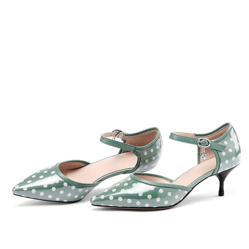 Bride Été De Peau Chaussures Wetkiss Mouton Femmes Hauts Bout Vert 7fgYby6