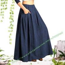 2019 Female Vintage Retro Casual Plus Large size 6XL 7XL Black Cotton and Linen Folds Ladies
