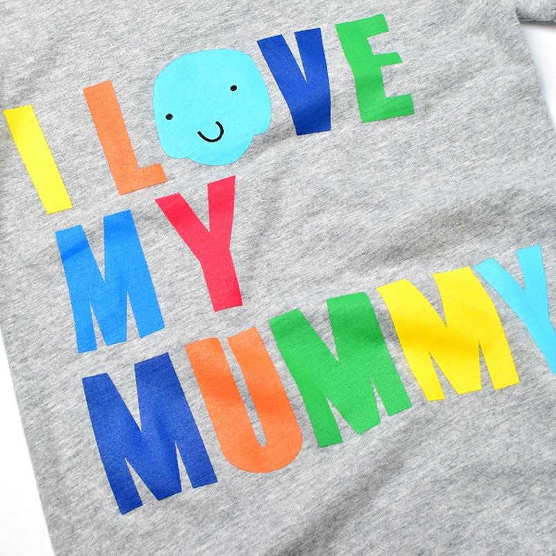 Noworodka Lato Pajacyki 2016 Kocham Moją Tato Mumia Druku Romper Dla - Odzież dla niemowląt - Zdjęcie 5