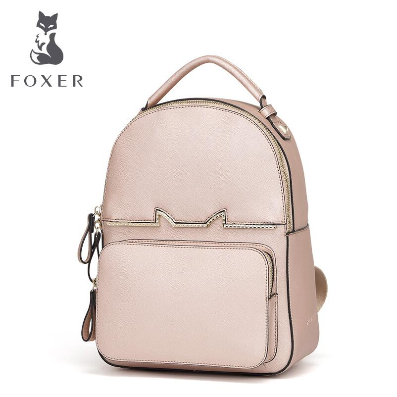 Women bag 2017 New FOXER brand women leather backpack fashion quality women backpack cowhide bag women bag 2016 new foxer brand women genuine leather backpack fashion quality women cowhide leisure wild student backpack