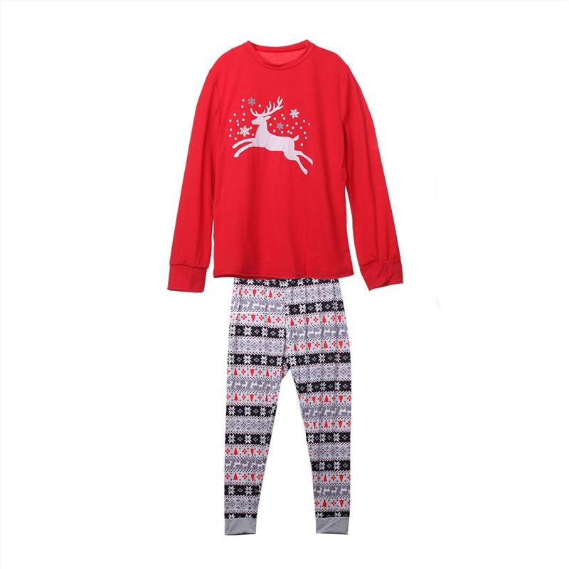 Couple Sleep Clothes Set Adult Merry Christmas Pyjamas Reindeer Full Sleeve Print Pajamas Sets Nightwear Sleepwear Costume Cheap
