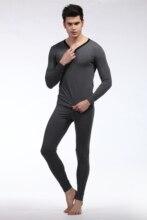 (1set = Top+pant )Men's underwear Men Long Johns Mens Thermal Underwear Men's 1 set Winter Warm Long John Thick cotton Velet