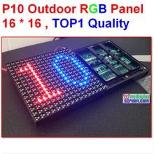 10mm outdoor  anti-water 160*160mm 16*16 pixel high brightness video 1/4scan hub 75 full color  dip  led display p10 led module