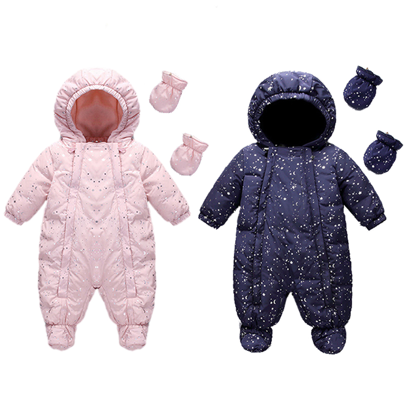 2ad7c7eab Russian Winter Baby Snowsuits Toddler Duck Down Jacket for Girls ...