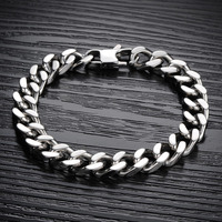 Cool Man Bracelets Fashion 316L Stainless Steel Chunky Link Chain Classical 22.5cm/21.5cm/20.5cm 3