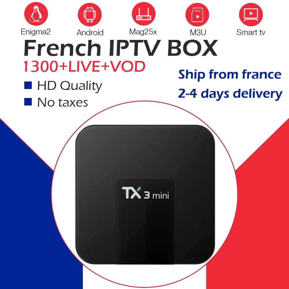 Android tv box 7 1 tx3 mini 16G ROM 1200 live tv French iptv subscription Belgium