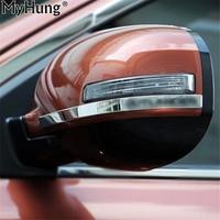 Fit Für MITSUBISHI Outlander 2013-2018 Rückspiegel Anti-reibungs Dekoration Verkleidungsring Abdeckung Auto Teile 2 stücke Pro Set