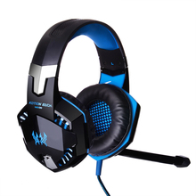 Big discount KOTION EACH G2000 Over-ear Game Gaming Headphone Headset Earphone Headband with Mic Stereo Bass LED Light for PC Game