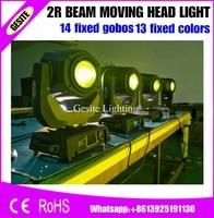 6 pçs/lote Pacote DJ 132 W 2R Feixe Compact Mini Lâmpada Sharpy Luz Em Movimento Da Cabeça